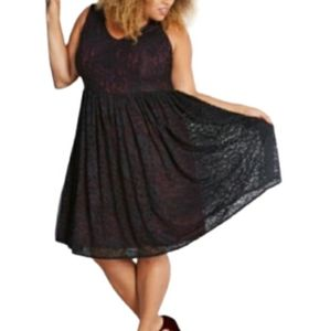 MODCLOTH LIZA LUXE FIT AND FLARE LACE DRESS